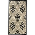 Indoor/ Outdoor St. Barts Sand/ Black Rug (2'7 x 5')
