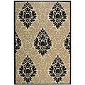 Safavieh Indoor/ Outdoor St. Barts Sand/ Black Rug (5'3 x 7'7)