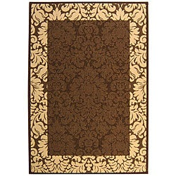 Safavieh Indoor/ Outdoor Kaii Chocolate/ Natural Rug (5'3 x 7'7)