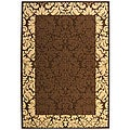 Indoor/ Outdoor Kaii Chocolate/ Natural Rug (5'3 x 7'7)