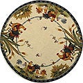 Safavieh Hand-hooked Roosters Ivory Wool Rug (8' Round)