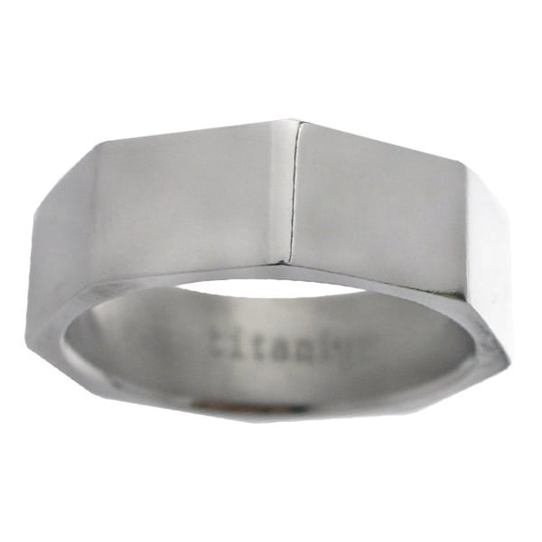 Men's Titanium Octagon-shape Band