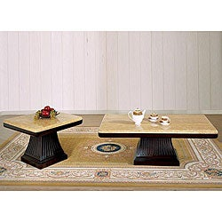 Alden Marble 2-piece Table Set