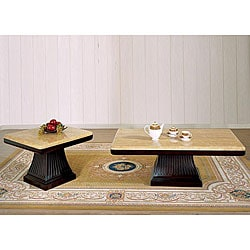 Alden Marble 2-piece Table Set
