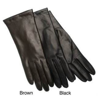 Portolano Women's Italian Leather and Cashmere Gloves