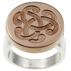 Two-tone Stainless Steel Celtic Knot Ring