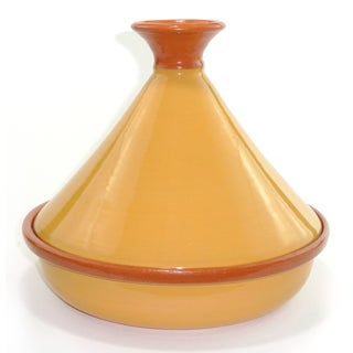 Clay Mustard Yellow Tagine (Tunisia)