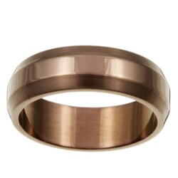 Chocolate Stainless Steel Men's Band