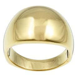 Sterling Essentials 14K Gold over Silver Classic Dome Ring