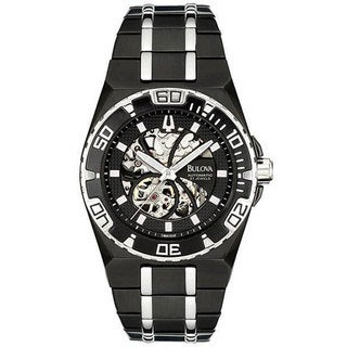 Bulova Men's Marine Star Mechanical Black Watch
