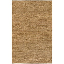Hand-woven Light Gold Natural Hemp Rug (5' x 8')