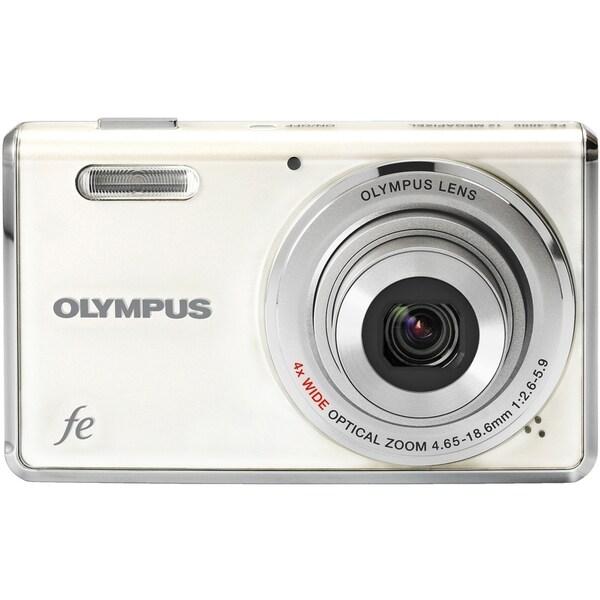 Olympus FE-4000 12 Megapixel Compact Camera - White