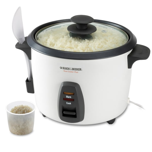 Black & Decker White 16-cup Rice Cooker