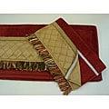 Sherry Kline Pleated Gold Velcro Band 3-piece Towel Set