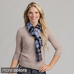 Cashmere Showroom Oversize Soft Viscose Brushed Plaid Scarf