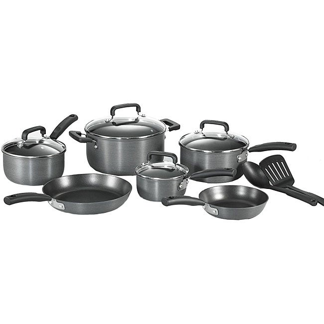 t fal anodized 12 piece cookware set 12144906 shopping great deals on t fal. Black Bedroom Furniture Sets. Home Design Ideas
