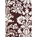 Hand-tufted Venice Leaves Reddish-brown Wool Rug (5' x 8')