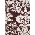 Hand-tufted Venice Leaves Reddish-brown Wool Rug (5&#39; x 8&#39;)