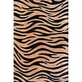 Hand-tufted Zebra Black Stripes Wool Rug (5' x 8')