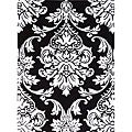 Hand-tufted Black Medallion Wool Rug (5' x 8')