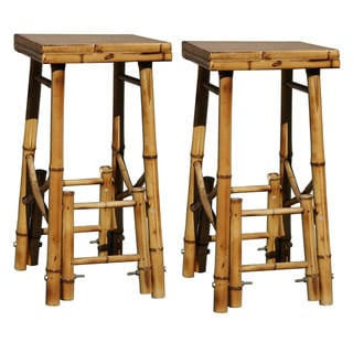 Buffalo Bamboo Bar Stools (Set of 2)