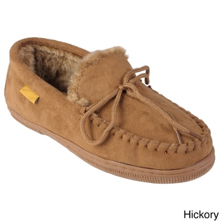 Boston Traveler Men's Suede Moccasin Slippers