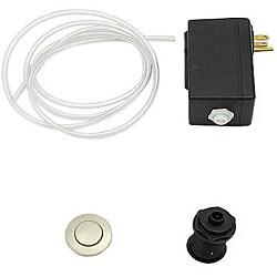 Satin Nickel Garbage Disposer Air Switch Unit