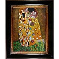 Gustav Klimt 'The Kiss (Full View)' Hand-painted Canvas Art