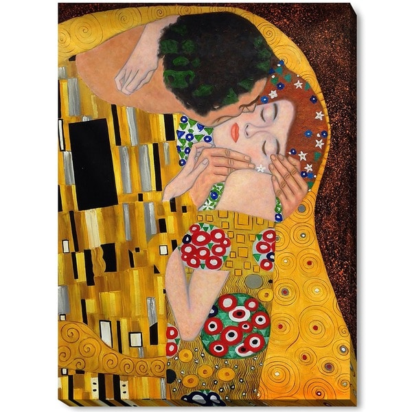 Klimt 'The Kiss' Canvas Art