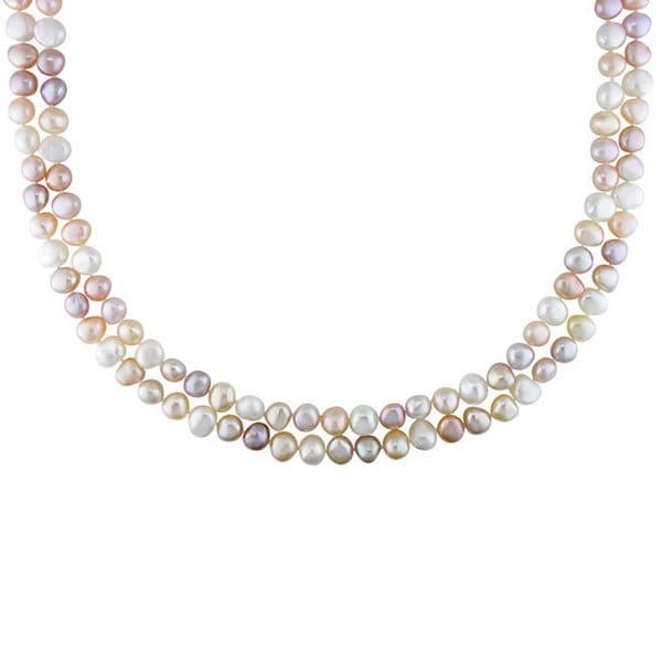 M by Miadora Multi-colored Cultured Freshwater Pearl 56-inch Necklace (7.5-8.5 mm)