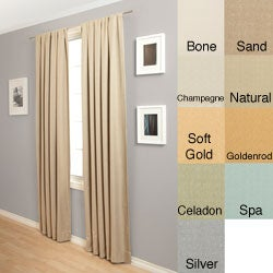 Trilogy Rod Pocket 84-Inch Polyester Curtain Panel