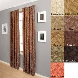 Zanzibar Rod Pocket 84-Inch Geometric Curtain Panel