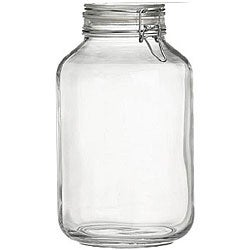 Bormioli Rocco 5-liter Italian Fido Glass Canning Jars (Set of 6)