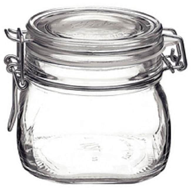 Bormioli Rocco Italian Fido Glass .5-liter Canning Jars (Pack of 6)