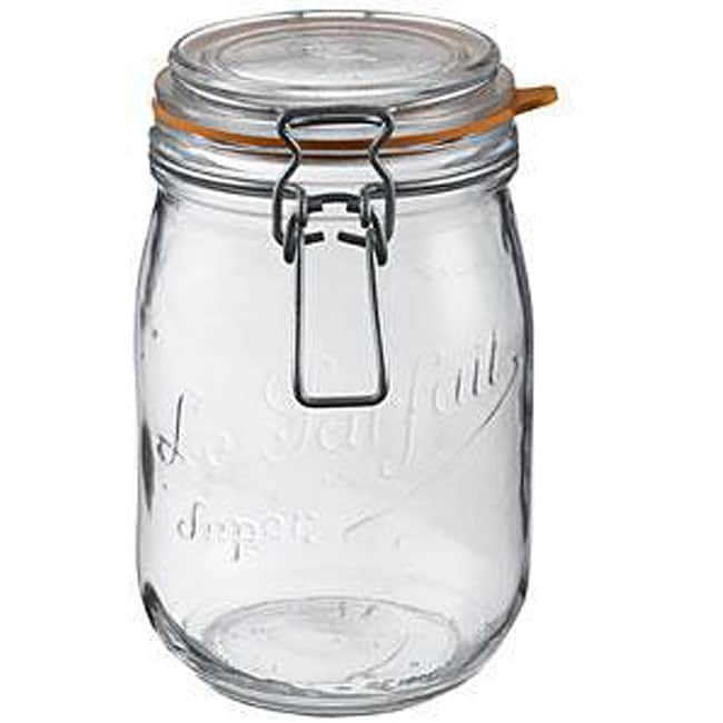 Le Parfait 1.5-liter Glass Canning Jars (Pack of 6)