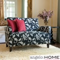 angelo:HOME Sutton Charcoal Black and White Vine Loveseat