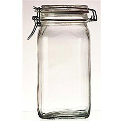 Bormioli Rocco 1.5-liter Italian Fido Glass Canning Jars (Set of 6)