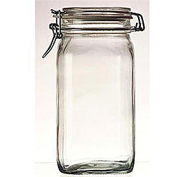 Bormioli Rocco Fido Glass 1-liter Canning Jars (Pack of 6)