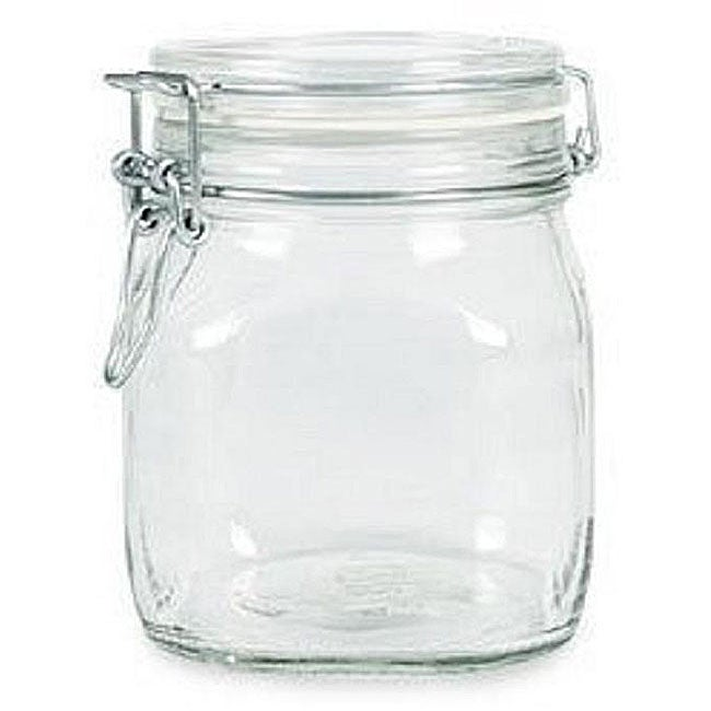 Bormioli Rocco 0.5-liter Fido Glass Canning Jars (Pack of 3)