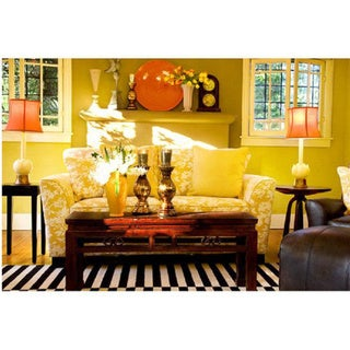angelo:HOME Crawford Sofa Yellow and White Floral