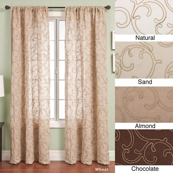 Santiago Rod Pocket 84-inch Curtain Panel