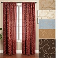 Isis Scroll Rod Pocket 108-inch Curtain Panel