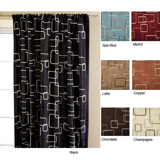 Madison Square Rod Pocket 108-inch Curtain Panel
