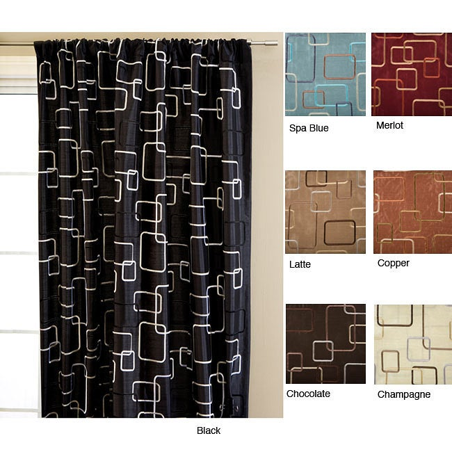 Overstock.com Madison Square Rod Pocket 120-inch Curtain Panel