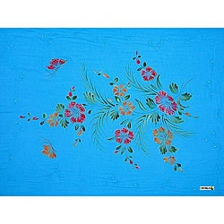 Turquoise Sequined Butterfly Sarong (Indonesia)