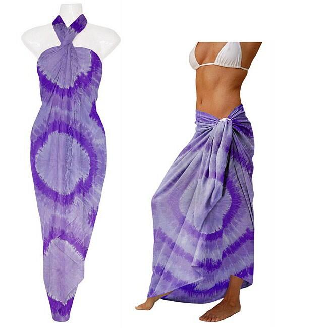Purple Haze Tie-dye Sarong (Indonesia)