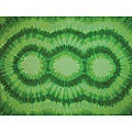 Women's Tie-dye Green Sarong (Indonesia)