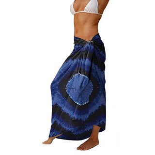 Tie-dye Navy Blues Sarong (Indonesia)