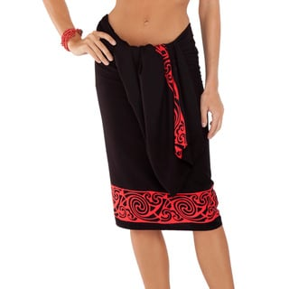 Celtic Tribal Border Deep Red Sarong (Indonesia)