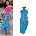 Butterfly Blue/ Multicolor BF-15 Sarong (Indonesia)